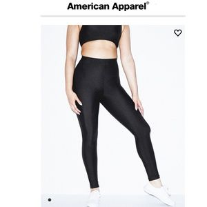 American Apparel Nylon Tricot Leggings Black Sm.